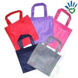 Tela não tecida colorida verde dos PP Spunbond para a fatura do saco