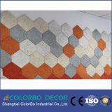 Tarjeta del cemento de la fibra del material para techos del panel acústico de las lanas de madera