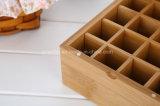 精油のびんのためのタケコンパートメントボックス