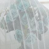 도매 Breathable 면 리넨 단단한 투명한 커튼 직물 (18F0097)