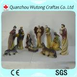 Natività dell'interno 10/S stabilito dei Figurines di natale della resina del mestiere di Decoraiton di alta qualità