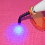 1400MW LED dental sin cuerda sin hilos que cura la luz de fibra óptica ligera