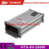 alimentazione elettrica di 5V40A LED/lampada/striscia flessibile IP65 Rainproof