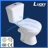 Alta eficiencia económica Doble Descarga P-Traptwo piezas Aseo WC