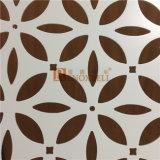 Placage en aluminium perforé blanc de configuration de fleur de couleur