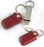 Привод вспышки USB PU высокого качества кожаный с закрытием магнита