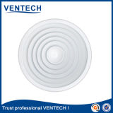 Diffuseur en aluminium d'air de renvoi de rond de plafond circulaire blanc de couleur