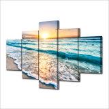 HD напечатало холстину Mc-058 изображения плаката печати декора комнаты печати холстины картины группы песка пляжа захода солнца Seascape
