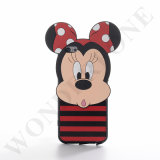 Caso novo de Mickey 3D PC+TPU+Silicone do estilo para o iPhone 6s/6s mais