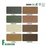Decking composé en plastique en bois d'étage de coût bas solide résistant de temps