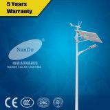 3 anos de luz de rua híbrida solar do vento da garantia com Pólo e bateria