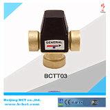 Válvula termostática manual de cobre amarillo para el radiador