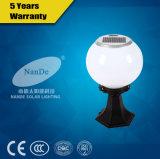Luz solar del poste de la cortina blanca de la bola del aluminio 1W- 3W