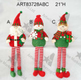 Décoration de Noël, garde d'enfants d'elfe de bonhomme de neige de Santa avec les pattes 3asst de bande