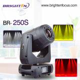 DJ profesional de iluminación Mini Estadio de 250W en movimiento estroboscópico luces del punto