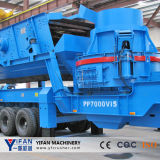 Boa Borracha-Tyred Mobile Crusher de Quality e de Low Cost