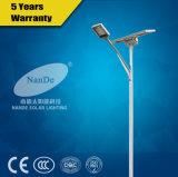 Réverbère solaire diplômée par ce de DEL pour l'éclairage urbain de route de 2 voies