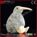 Jouet mou d'oiseau d'île de peluche d'ASTM de Brown de kiwi de kiwi du nord de peluche