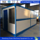 Rápidamente envase constructivo prefabricado barato de la oficina de Flatpack de la asamblea de material de construcción de acero ligero