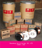 alambre de soldadura de Aws A5.18 Er70s-6 del embalaje del tambor 250kg