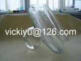 Grande frasco de vidro com a tampa de vidro para o alimento