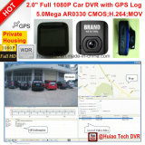 "2.0 ""Google GPS Mapa Play Back GPS Rastreo Ruta de coches DVR con 5.0mega coche Digtial Video Recorder, Dash Cámara, H264, HDMI out, coche Negro Caja DVR-2001g"