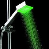 Colore degli accessori della stanza da bagno che cambia la testa di acquazzone del LED