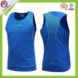 Camiseta 100% de las tapas del tanque del Bodybuilding de Racerback del poliester para las mujeres