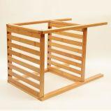 Dos estantes de bambú de las capas, estante de bambú