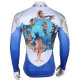 Голубым сделанная по образцу Mermaid куртка спортов покрывает втулка Breathable быстро сухой задействуя Джерси людей длинняя
