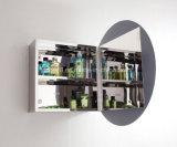 Популярный шкаф ванной комнаты нержавеющей стали зеркала круглой формы