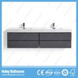 Vanité de salle de bain à montage mural moderne de première qualité avec 2 bassins et 4 tiroirs (BF340D)