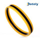 Duales colores de moda pulsera de silicona pulsera de goma banda con UV
