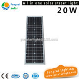 Tous dans un réverbère solaire de 20W DEL pour 7-8m Pôle avec la batterie d'ion de lithium