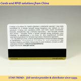 Cartão de tarja magnética de ouro impressão de PVC para Gift Card