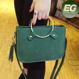 간단한 작풍 소형 핸드백 원형 금속 손잡이 작은 어깨에 매는 가방 Sy8006