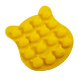 Molde material de la torta del silicón de la categoría alimenticia del certificado del FDA, 16PCS Winnie Pooh el molde/la Winnie Shaped de la torta del silicón Pooh el molde del hielo de la dimensión de una variable