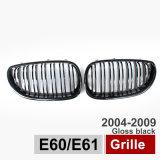 Le gril de butoir du gril E60 de rein duel avant de lamelle s'est ajusté pour BMW 04-09 520I 523I 525I 528I 530I 535I 540I