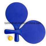 卸売価格はロゴの昇進のためにセットされる木製のビーチボールラケットをカスタマイズする
