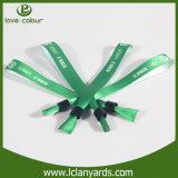 Wristbands do verde de matéria têxtil da festa de Natal da tela para eventos