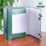 Rectángulo de regalo de empaquetado de lujo de sellado caliente modificado para requisitos particulares del papel/PVC de la impresión