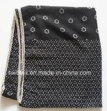 Écharpe commune en gros d'infini de polyester d'impression de Dots&Flower (HWBPS870)