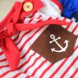 Vente en gros en bois de T-shirt de crabot d'écharpe de boucle de marin d'animal familier