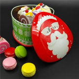 Caixa de lata de Natal para embalar Recipiente de presente de comida (T001-V8)