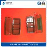 Rectángulos kit/7 al por mayor de la píldora del almacenaje de la cápsula del verde de la alta calidad de la alta calidad siete/rectángulo plástico