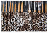 Leopard-Muster-synthetisches Verfassungs-Pinsel-Set des hohen Grad-12PCS