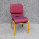 교회를 위한 Yc-G39-1 쌓을수 있는 도매 자주색 이용된 의자