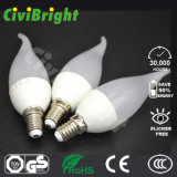 Bulbo novo elevado branco fresco da vela do diodo emissor de luz do projeto 5W do CRI