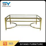 スライバステンレス鋼の家具のガラスコーヒーテーブル