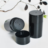 50mlヘアーケアの粉(PPC-PB-1702)のための光沢のある黒いふるいのびん